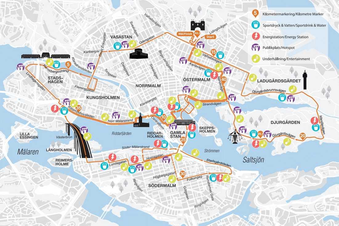 Stockholm Marathon 2019 – karta