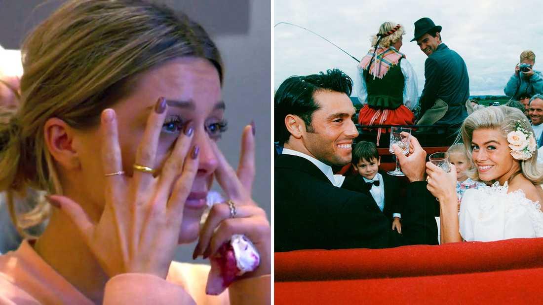 """I """"Wahlgrens värld"""" får Bianca Ingrosso för första gången se filmen från när hennes mamma och pappa gifte sig."""