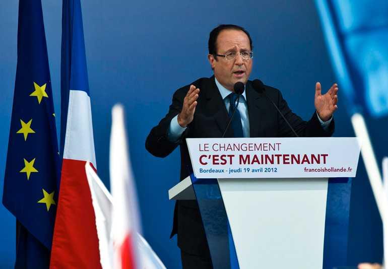 Socialisten Francois Hollande ligger bra till inför valet.