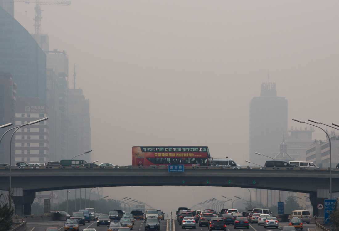 Miljontals akuta astmaanfall världen över beror på luftföroreningar. Värst är det i Kina och Indien. Arkivbild.