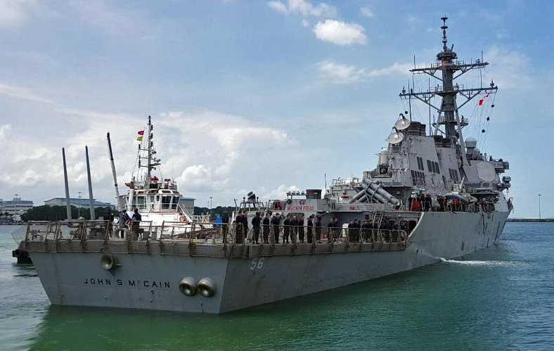 """Jagaren """"USS McCain""""."""