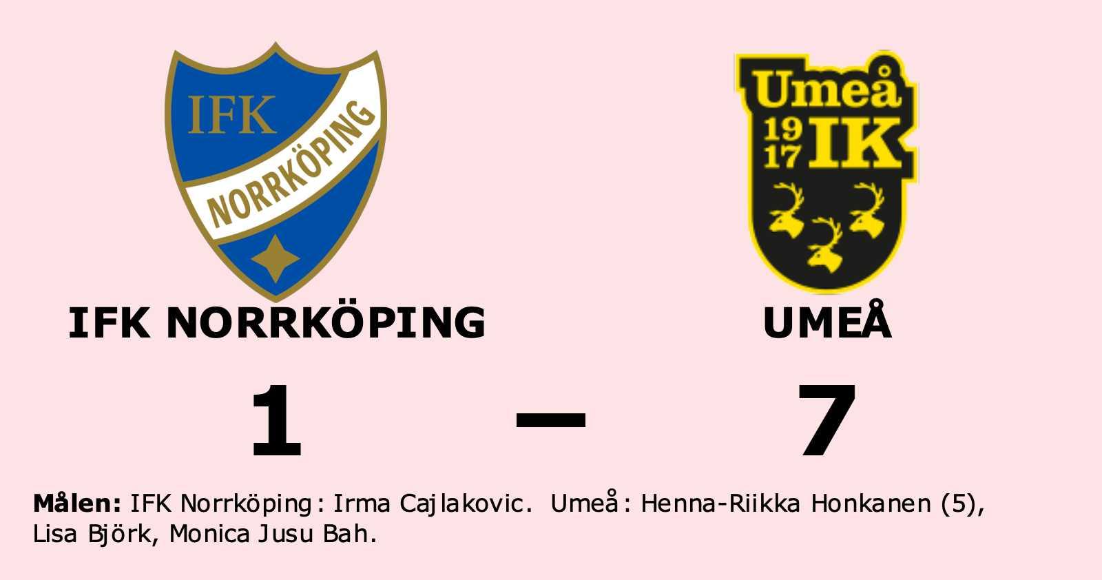 Bottennapp för IFK Norrköping hemma mot Umeå