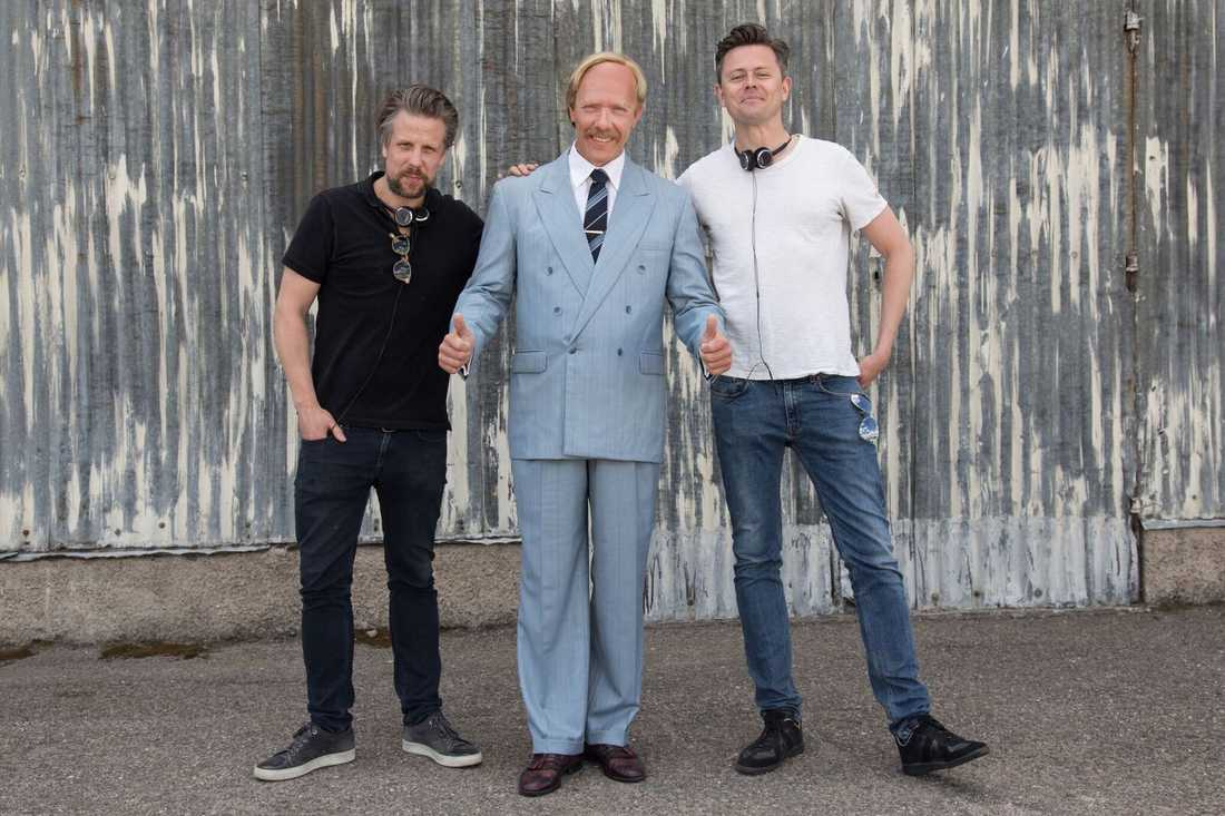 Filip, Fredrik och Mikael Persbrandt.