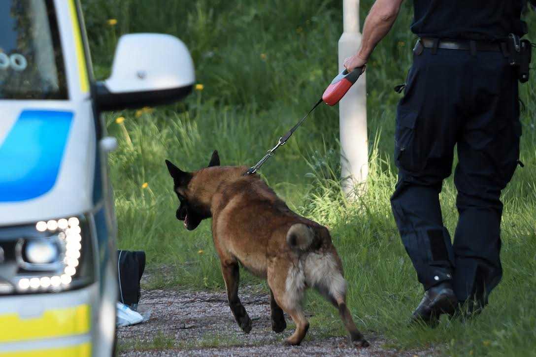 Polisens tekniker på platsen där kvinnan hittades död i stadsdelen Hjärsta i Örebro i maj 2018. Arkivbild.