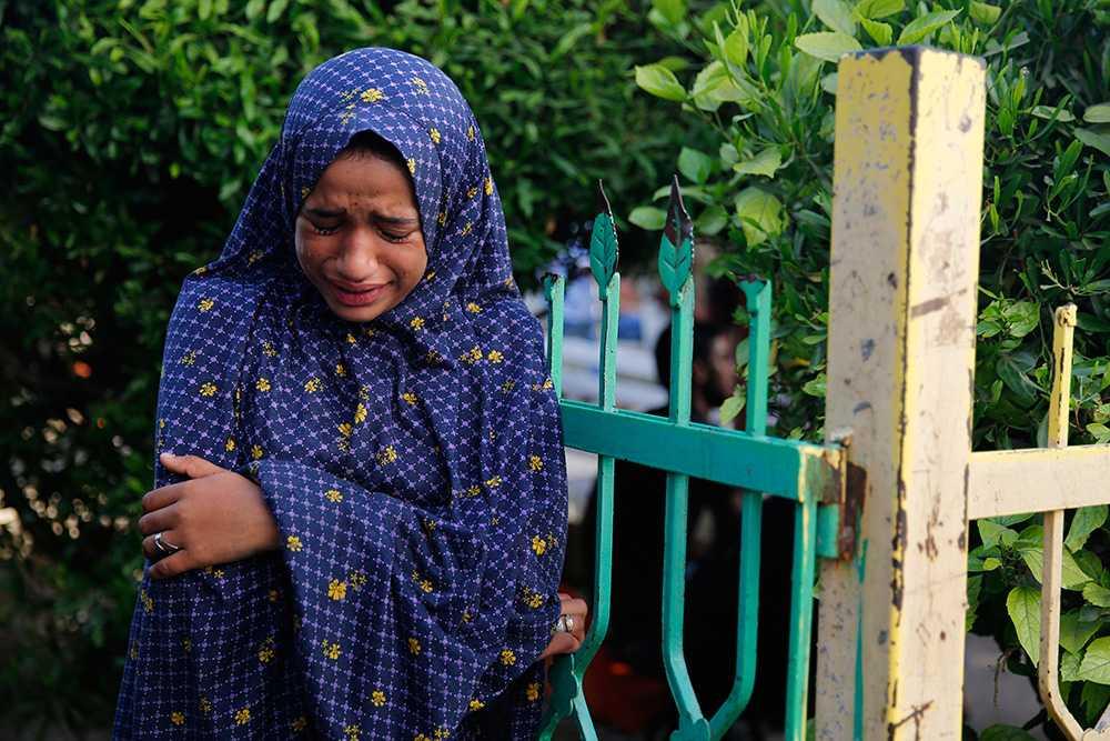 En palestinsk flicka som förlorat fem familjemedlemmar.