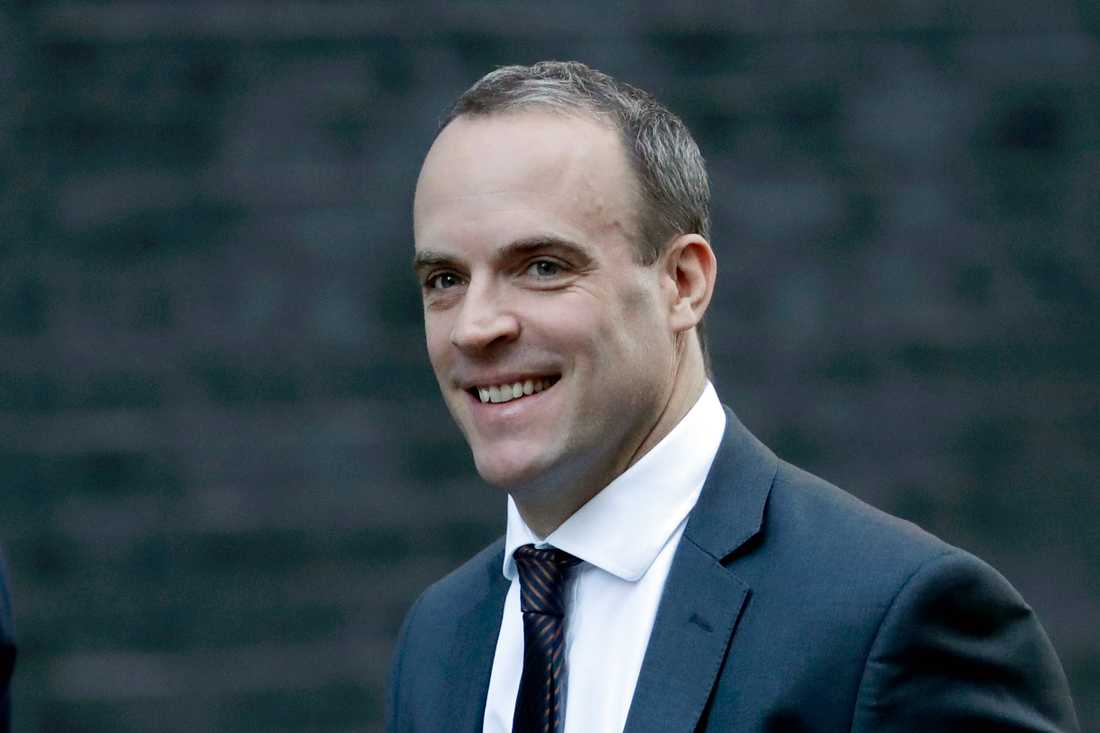 Storbritanniens brexitminister Dominic Raab.