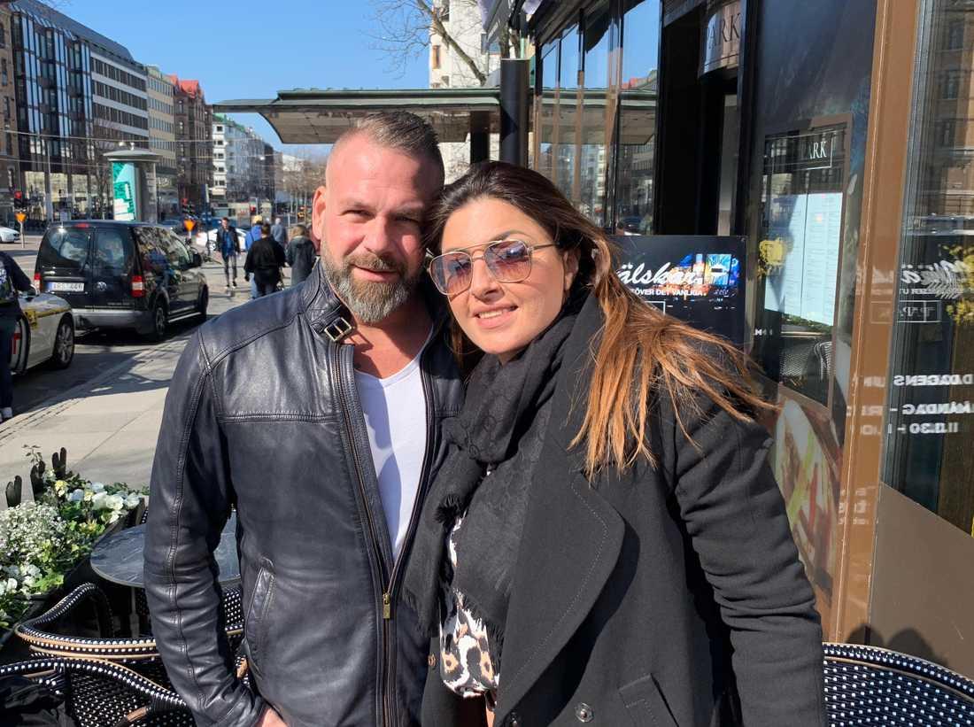 Helena Paparizou och Nikos Panagiotidis i Göteborg i våras, när de träffades för första gången på 10 år.