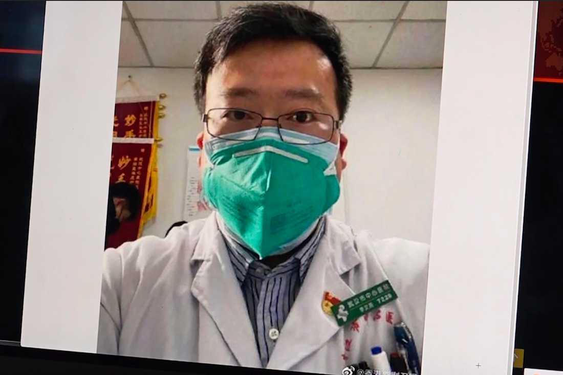 Ögonläkaren Li Wenliang, som arbetade på Wuhans centralsjukhus, dog efter att ha smittats av det nya coronaviruset.