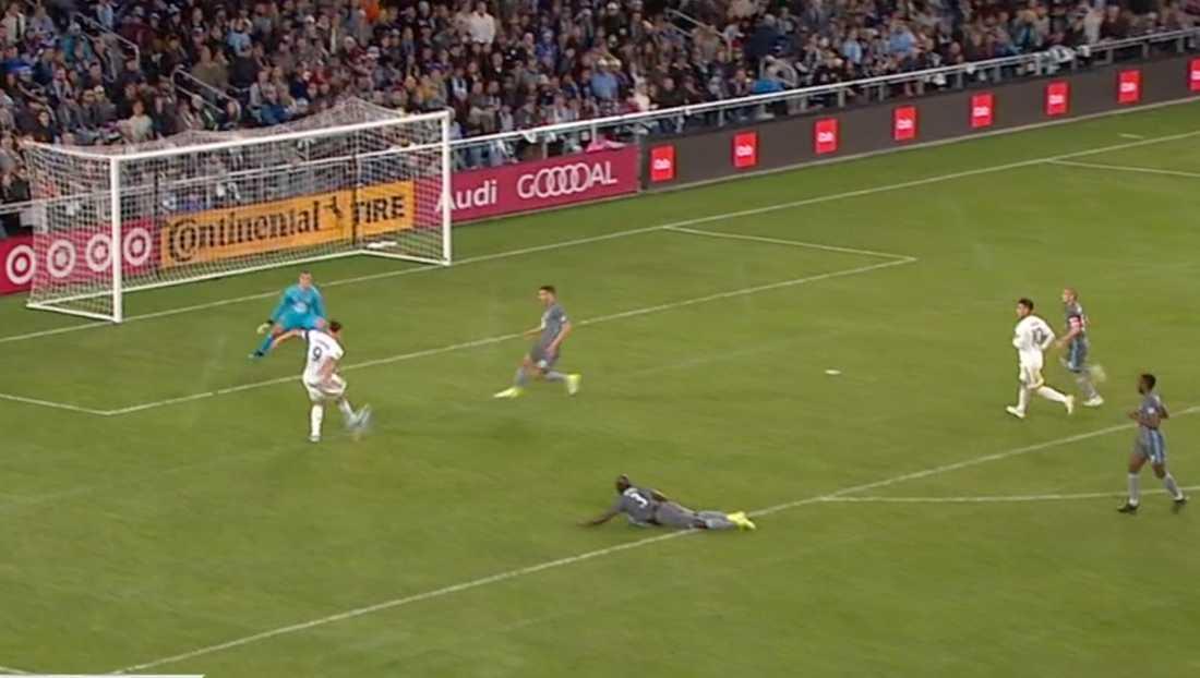Zlatans friläge räddas vid ställningen 1–0.