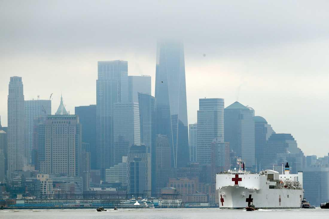 Sjukhusfartyget USNS Comfort.