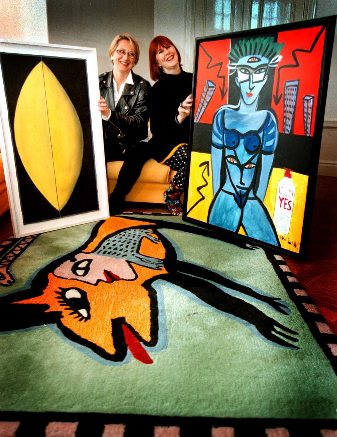 Med systern Rebeckha Hydman 1997.