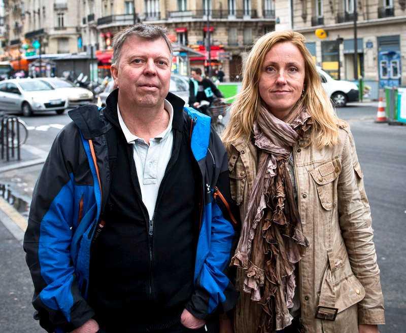 Aftonbladets team: Wolfgang Hansson och Lotte Fernvall.