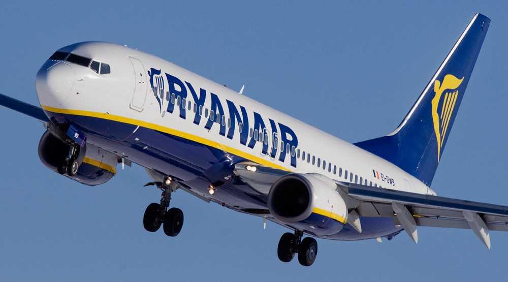 Ett av Ryanairs Boeing 737-800-flygplan.