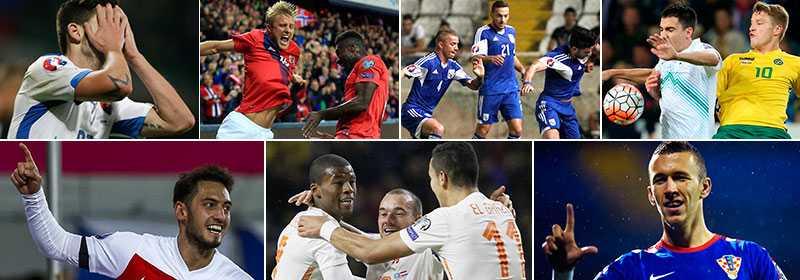Slovakien, Norge, Cypern eller Slovenien skulle Sverige kunna få möta i ett playoff. Men vi kan även få Turkiet/Holland eller Kroatien.