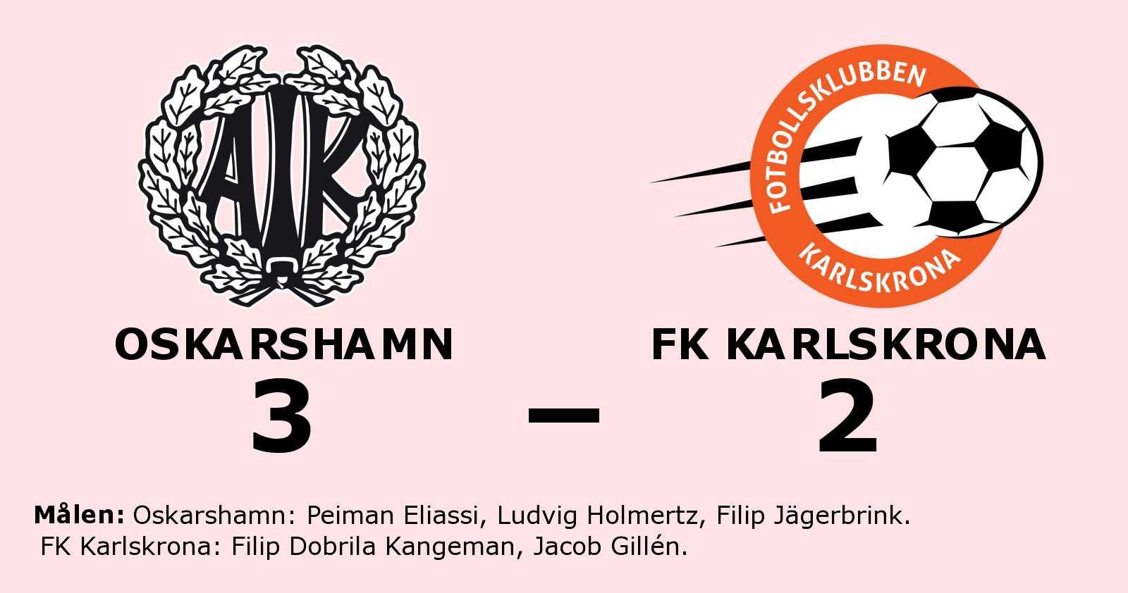 Oskarshamn slog FK Karlskrona med uddamålet