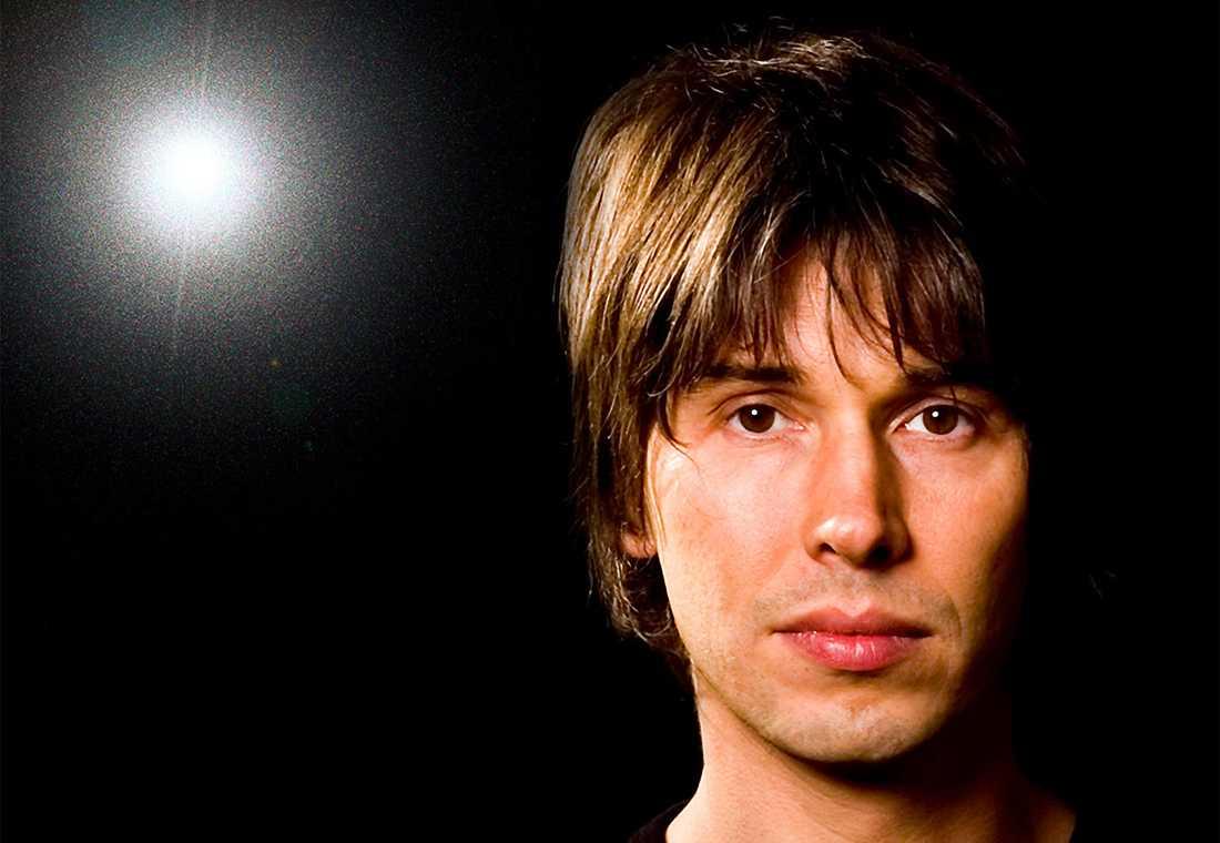 Partikelfysikern, före detta popmusikern och  tv-kändisen Brian Cox. Foto: Vincent Connare