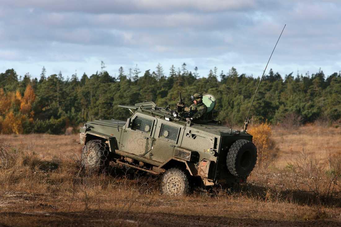 Två fordon, även kallade Galten, stals från ett militärförråd i Enköping. Arkivbild.