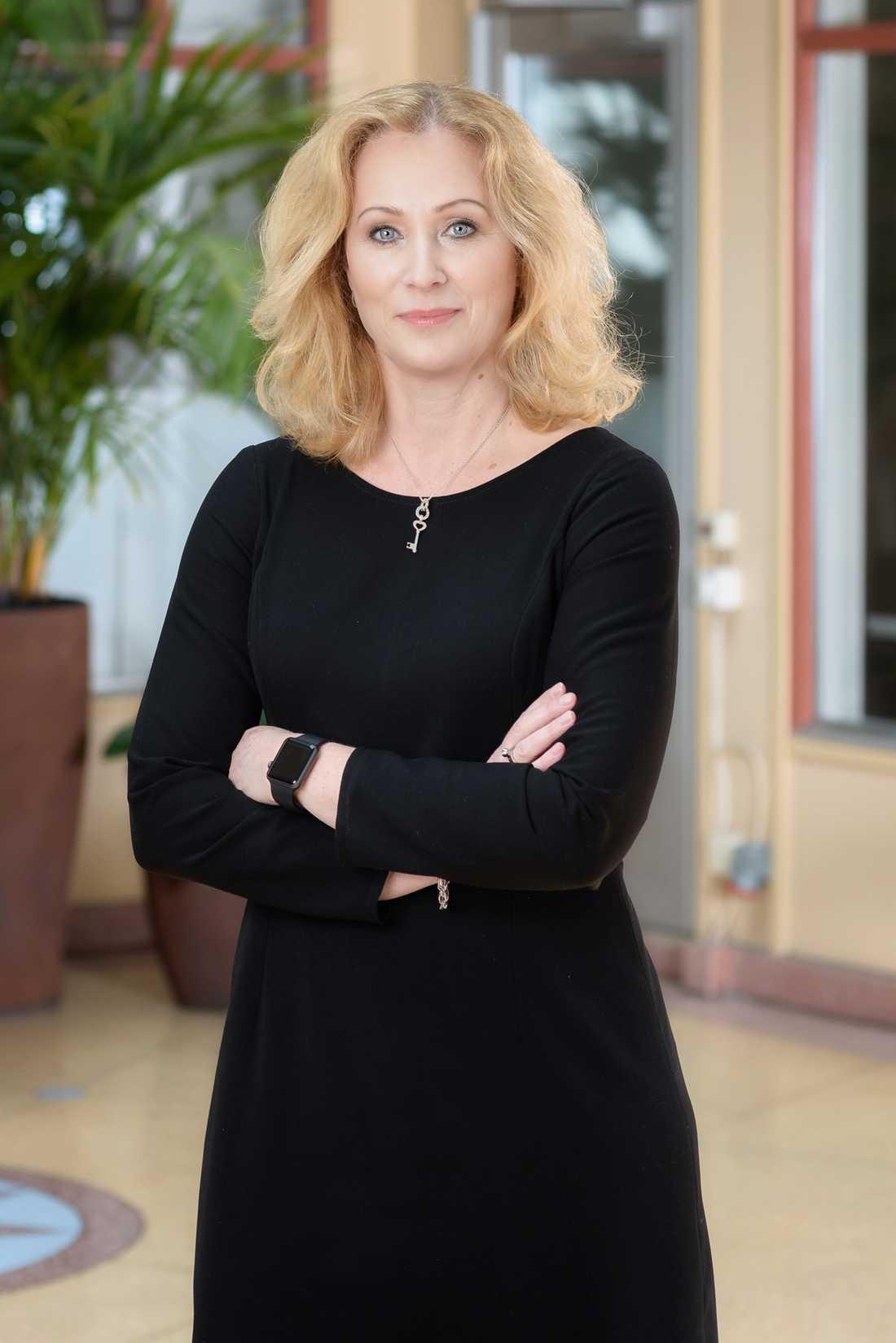 Tidningsutgivarnas vd Jeanette Gustafsdotter.