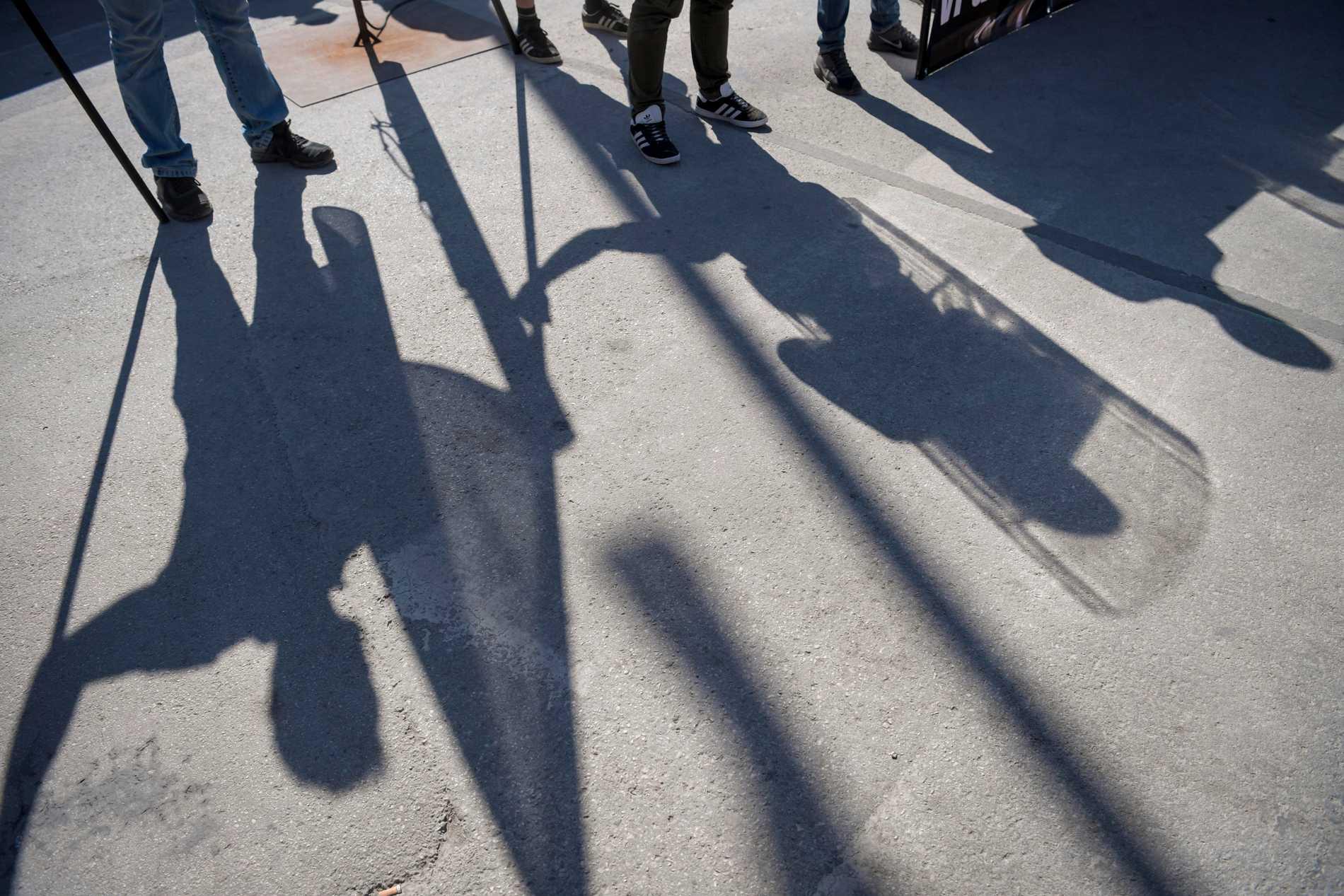 Nazister under ett torgmöte i Almedalen 2018