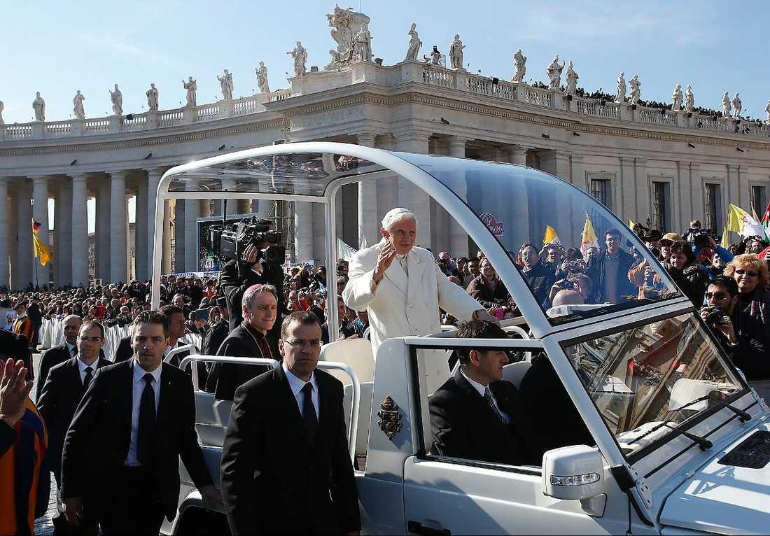 Den nya påven kommer sannolikt också att åka i påvemobilen.