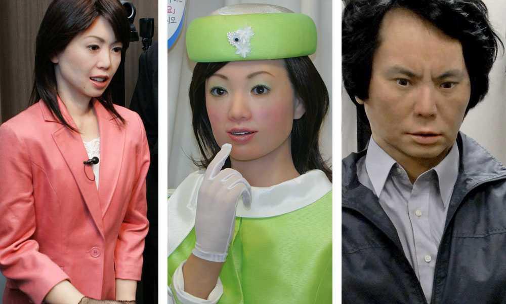 Morgondagens sexpartners? Humanoida robotar kommer bli vanligare i framtiden enligt många forskare. I Japan har man kommit längst i utvecklingen. Här ser ni tre exempel. Kanske kommer morgondagens sexrobotar likna dem?