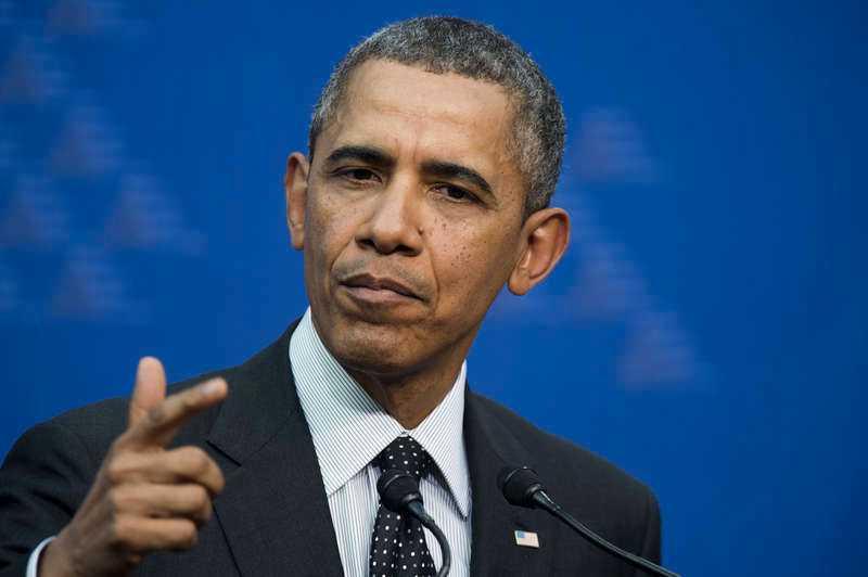 Barack Obama sa på måndagen att sanktionerna beror på att Ryssland misslyckats med att leva upp till de åtaganden som man tog på sig under det internationella möte som anordnades för att deeskalera krisen i Ukraina.