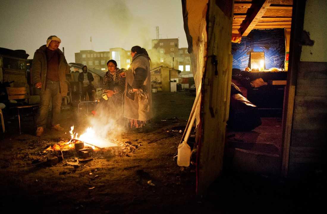 Migrantlägret i Malmö skall tömmas