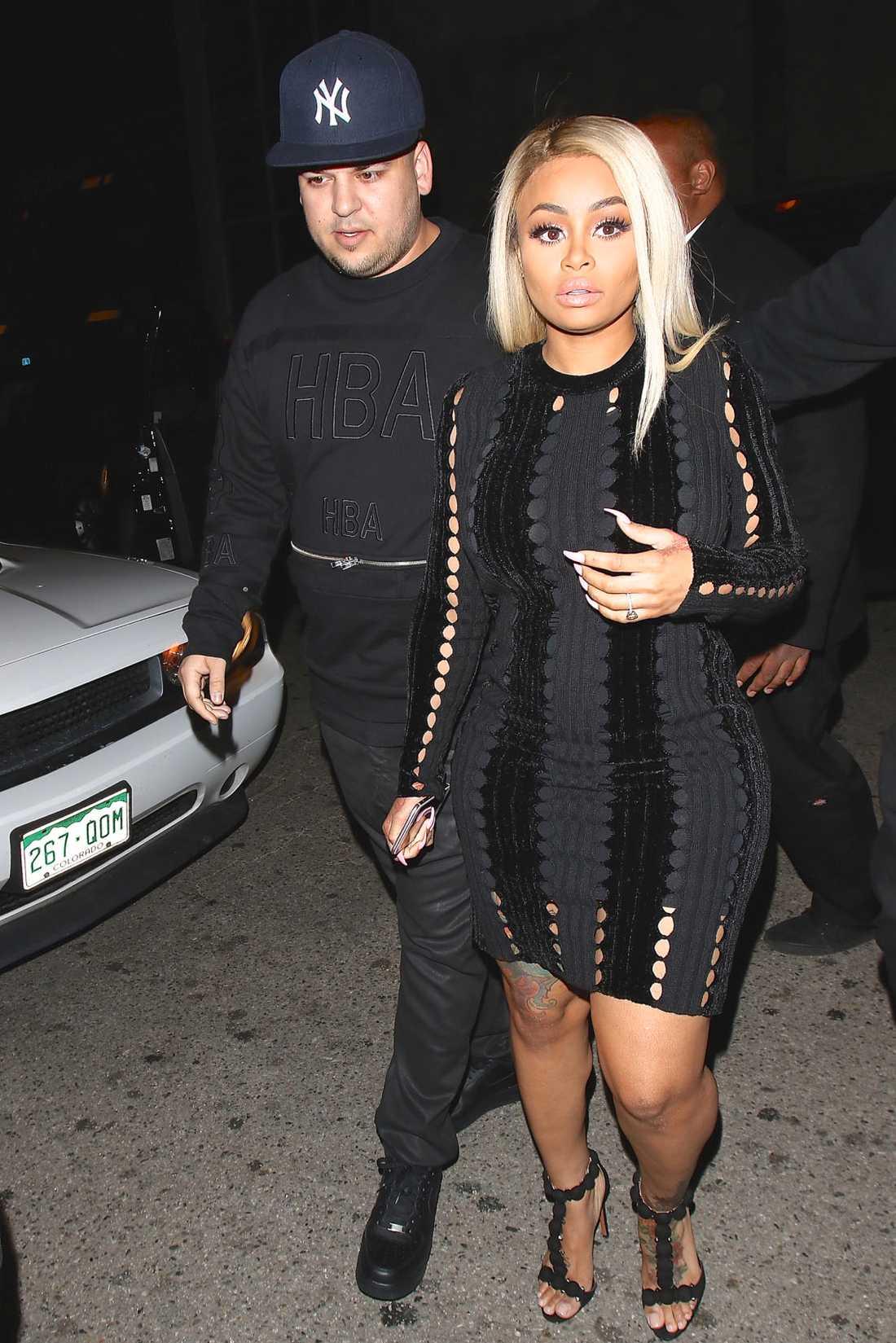 Blac Chyna tillsammans med Rob Kardashian.