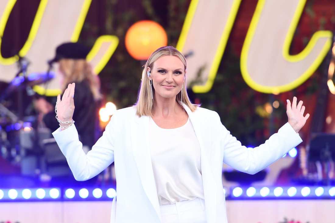 """Sanna Nielsen har varit programledare för """"Allsång på Skansen"""" sedan 2016. Arkivbild."""