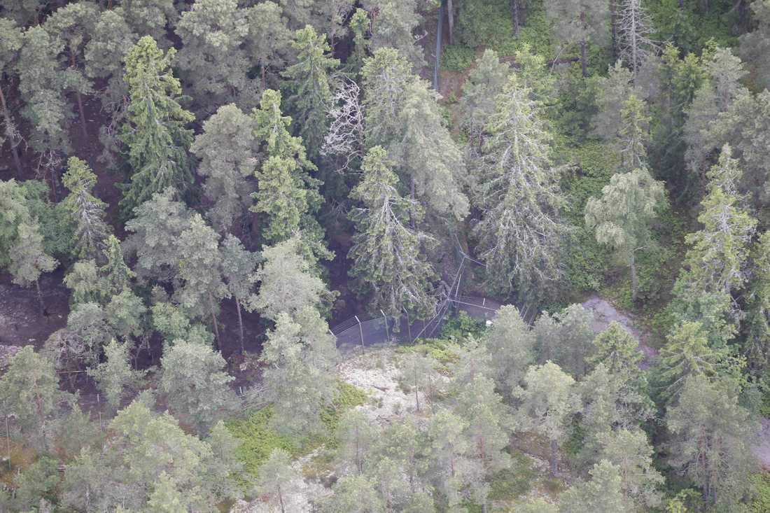 Flygbild över området.
