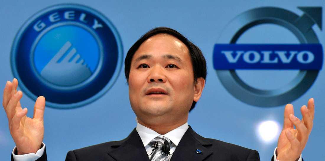 Fordonstillverkarens Geelys ordförande Li Shufu i samband med köpet av Volvo Cars 2010.