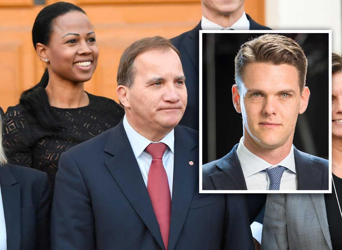Moderaten Christofer Fjellner kritiserar Alice Bah Kuhnke och Stefan Löfven för att ha ljugit.