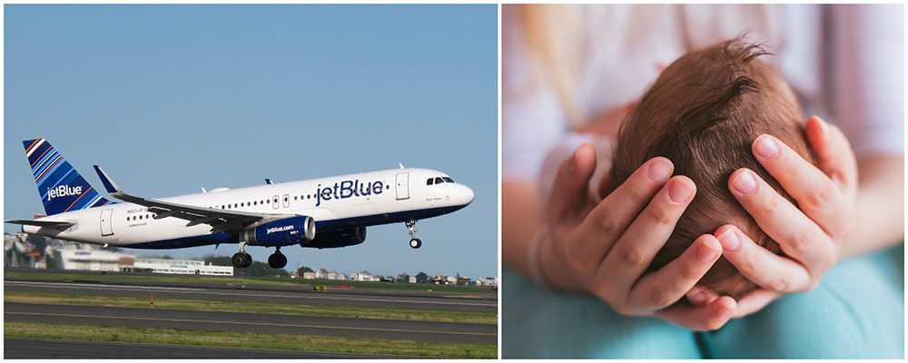 Kvinna födde barn ombord på Jetblues flight 1954.