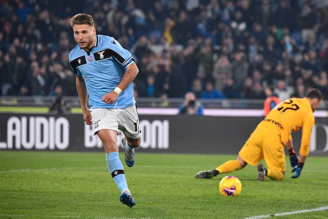 Lazios Ciro Immobile kvitterade för Lazio hemma mot Inter.