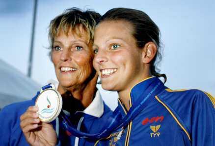 GULDPARET Ulrika Knape Lindberg och hennes dotter Anna Lindberg är unika. Båda har vunnit guld i stora mästerskap i simhopp.