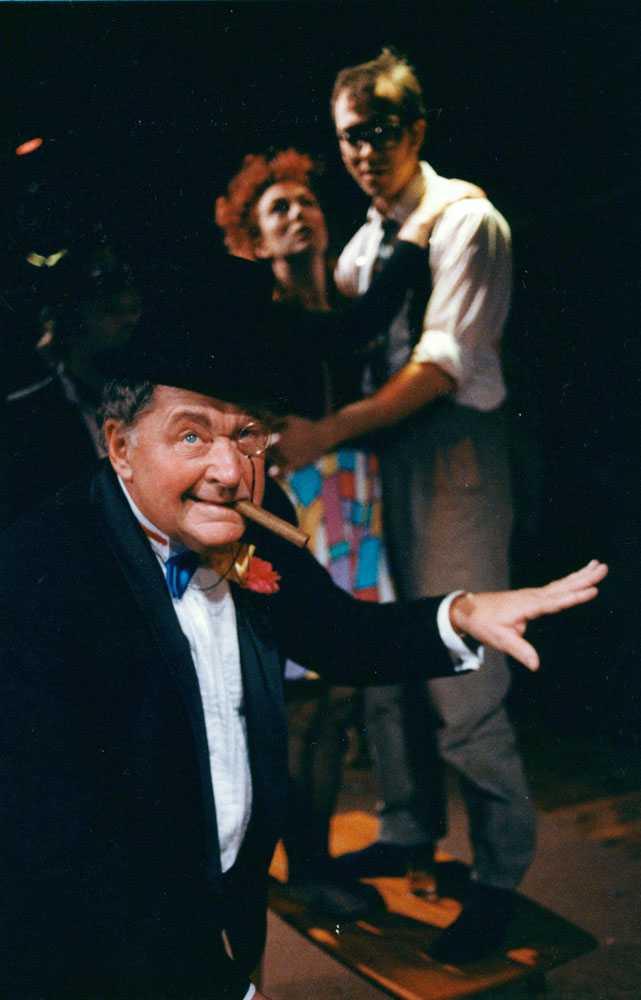 Som showman på teaterscen 1991.