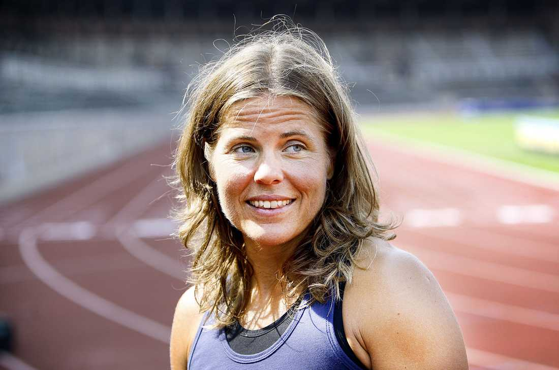 """NY MÄSTARE? Pernilla Wiberg är redo att fajtas med andra sportstjärnor om vinsten i """"Mästarnas mästare""""."""