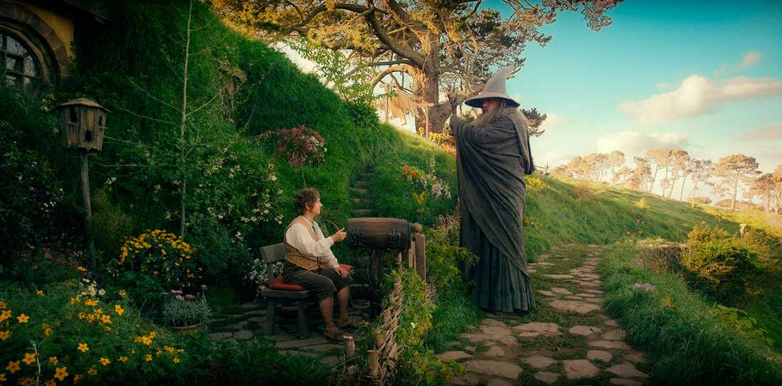 """Martin Freeman och Ian McKellen i """"Hobbit""""."""