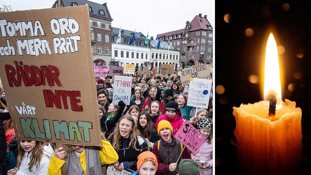 Vi ser nu hur Greta Thunberg, genom att klimatstrejka, visar vägen framåt. Hon visar på betydelsen av att ta den plats som man har rätt till, utan att snällt vänta på den. Det behövs, för arbetet för att ställa om och värna om vår planet är långt ifrån tillräckligt, skriver debattörerna. Personerna på bilden har inget med debattartikeln att göra.