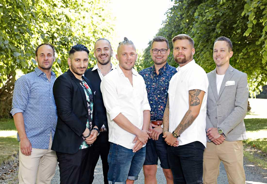 Camillas friare: Tibor Udvardy, Stefan Svensson, Christer Mortensen, Robert Jansson, Sinan Al-Sabti, Peter Florin, Markus Rotstam. Pressbild.