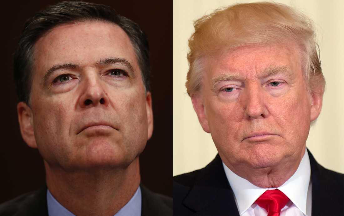 James Comey och Donald Trump.