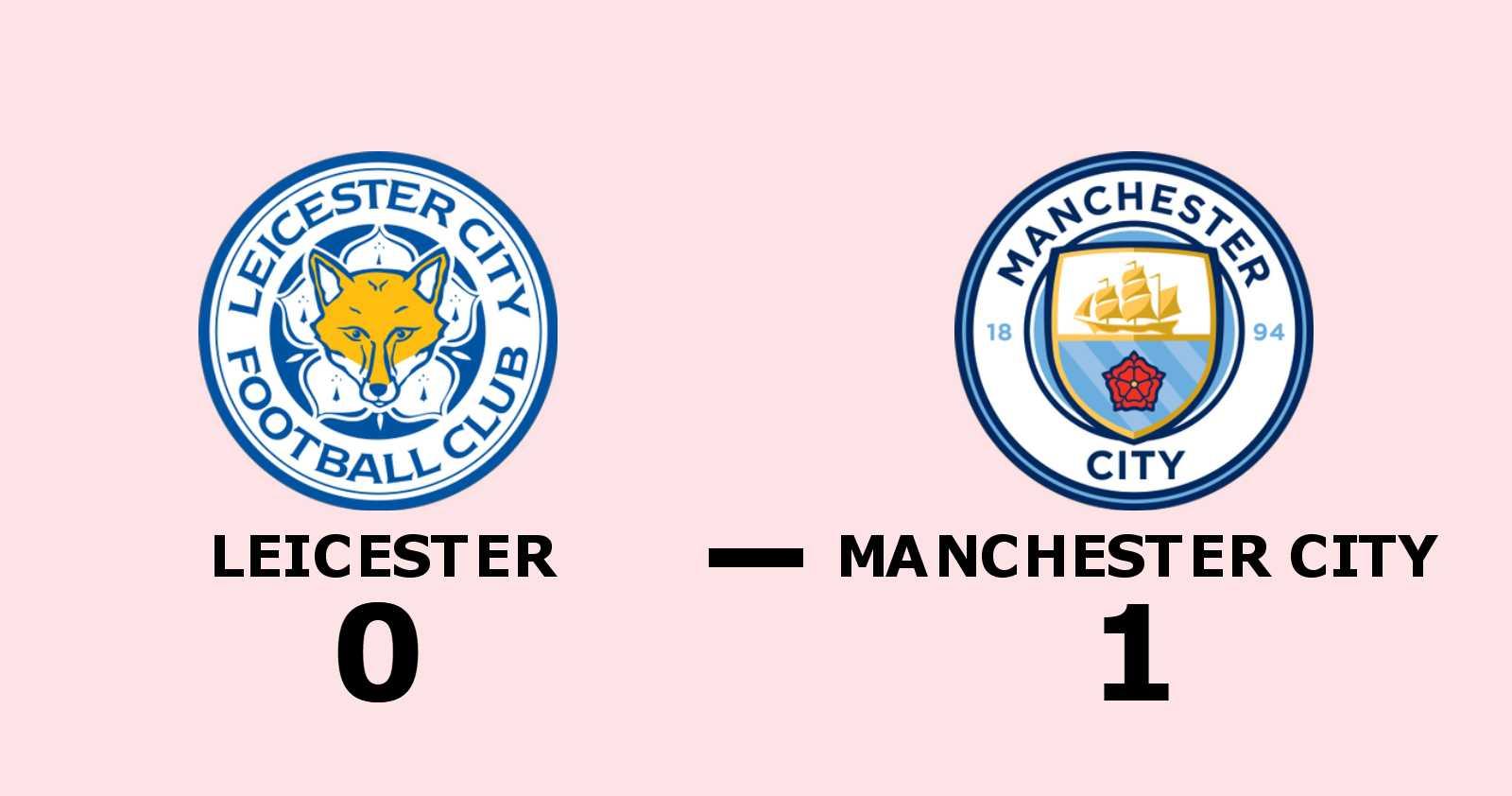 Gabriel Jesus målskytt när Manchester City sänkte Leicester