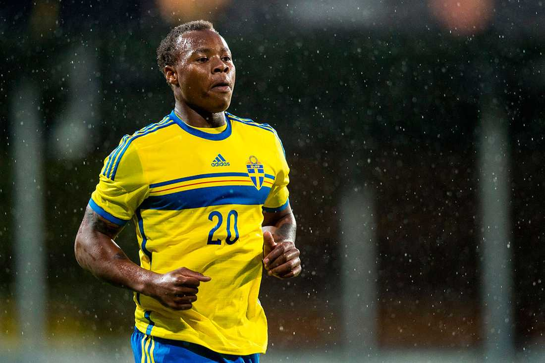 Carlos Strandberg i svenska U21-landslaget.