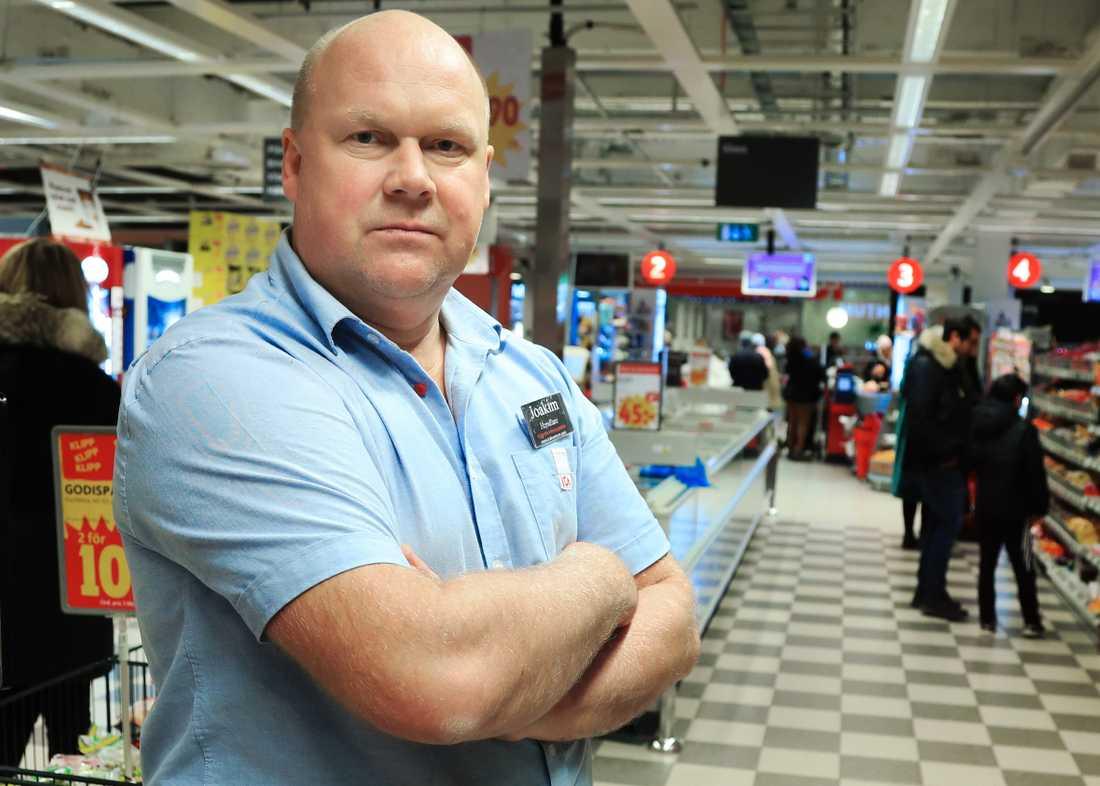 Ica-handlaren Joakim Söderlund.