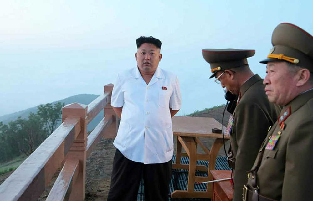 Odaterad bild på nordkoreas ledare Kim Jong-Un.