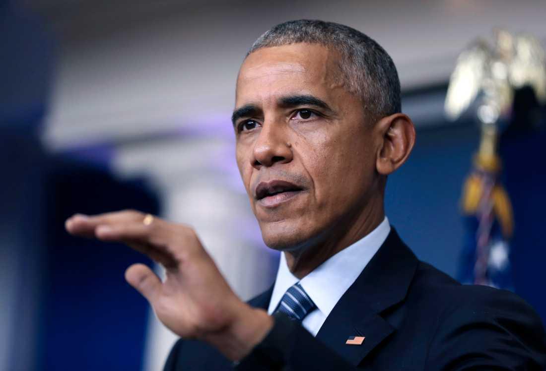 Före detta presidenten Barack Obama.