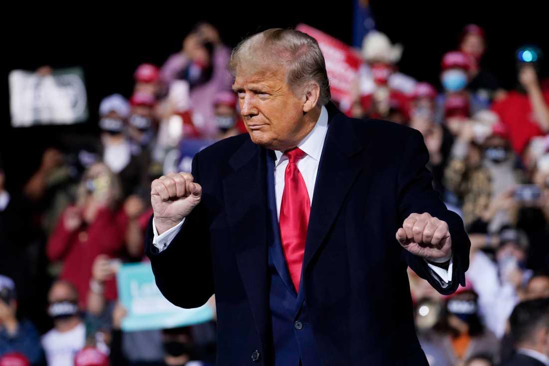 USA:s president Donald Trump vid ett kampanjframträdande i helgen.