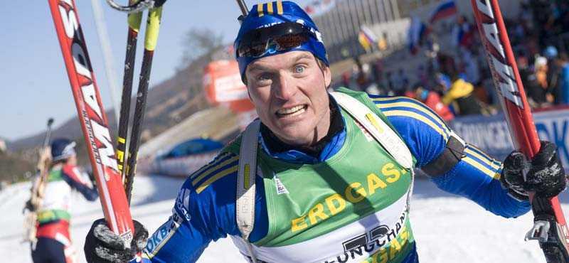 SKRÄLLEN David Ekholm, 30, femma i VM-loppet i morse.
