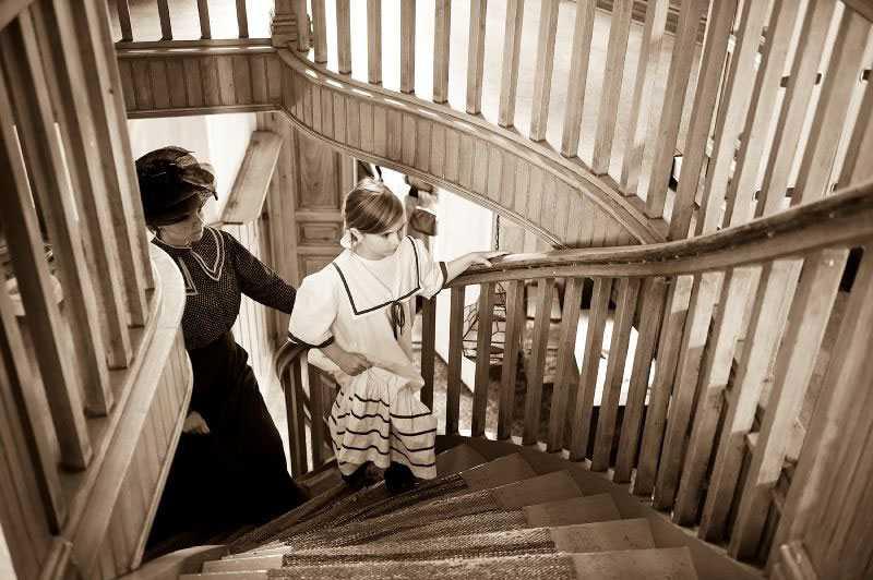 Trappräckena är original från tidigt 1900-tal.