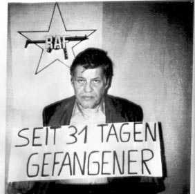 Hanns-Martin Schleyer, ordförande för den västtyska arbetsgivarföreningen, kidnappades och mördades av RAF 1977. Foto: AP